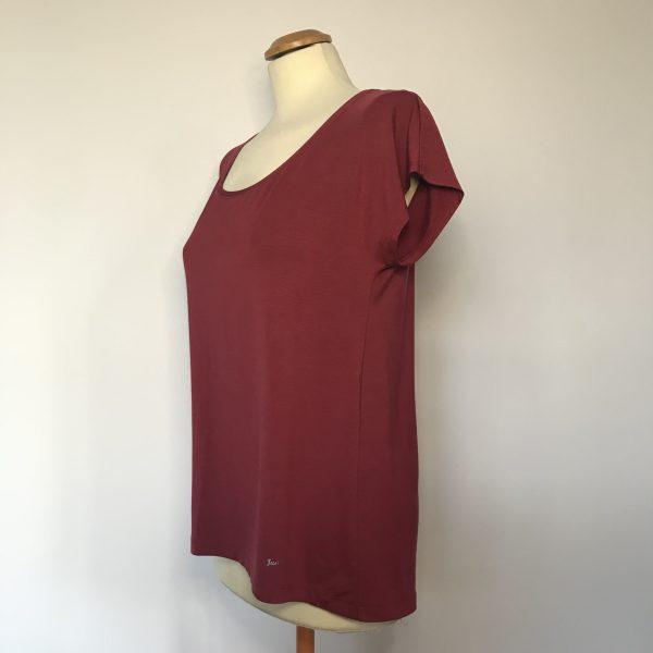 Damenshirt Bambus rot