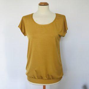 Damenshirt Bambus senf