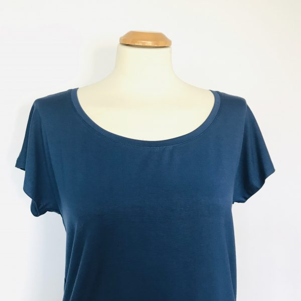 Damenshirt Bambus blau