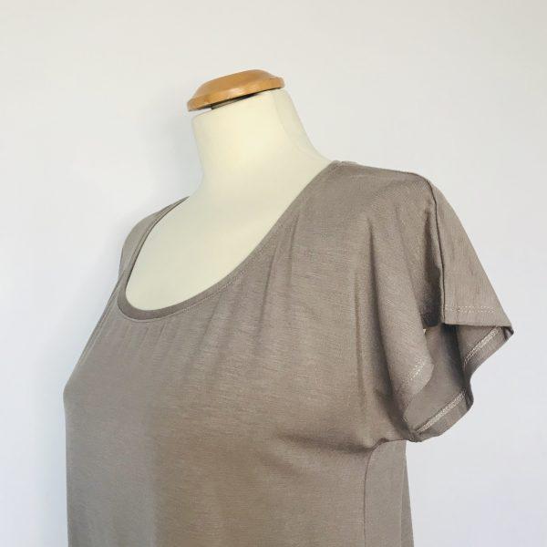 Damenshirt Bambus taupe
